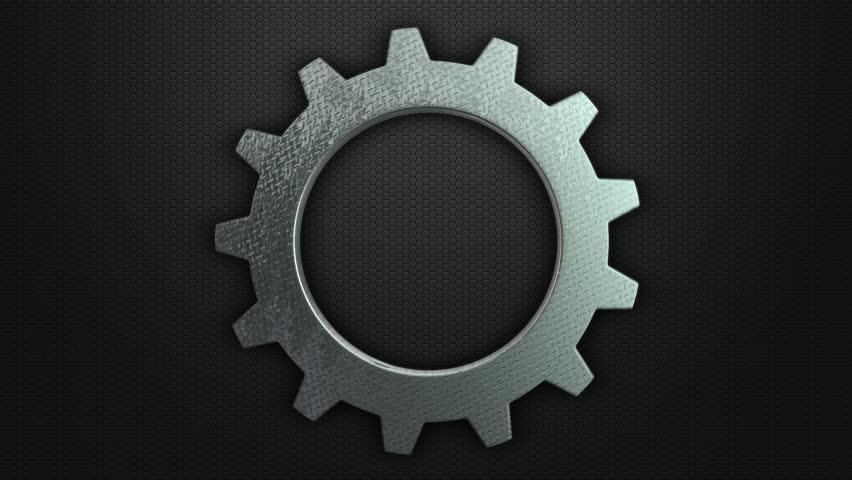 Gear Icon Simple Stock Footage Video 9817055 Shutterstock