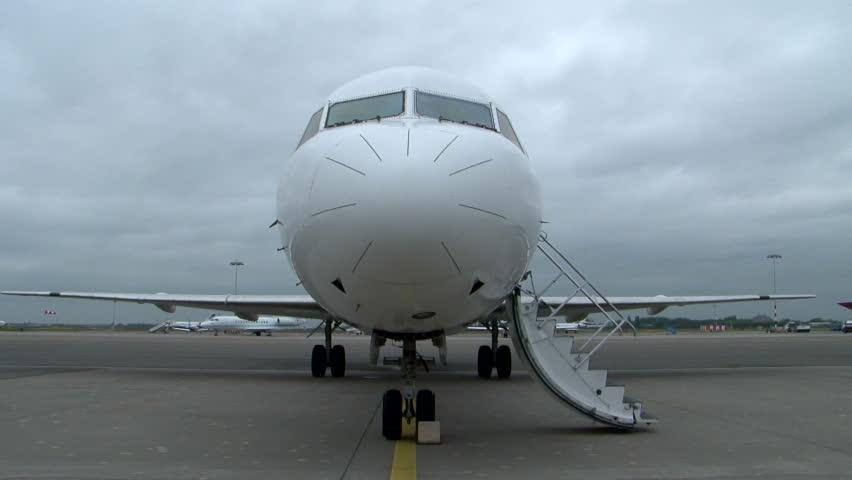 Airplane door opening before trakeoff & Airplane Door Stock Footage Video   Shutterstock Pezcame.Com