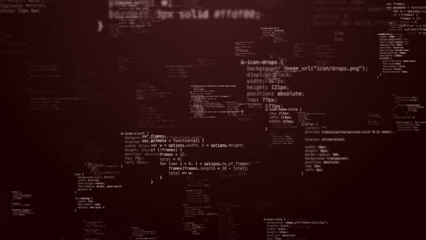 Loop flying throught monochrome random CSS/HTML code strings  | Shutterstock HD Video #10772027