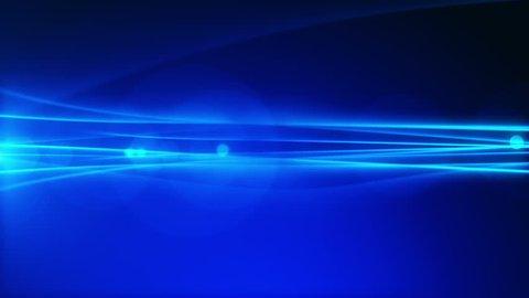 4k Blue Streaks Light Abstract Animation Background Seamless Loop.