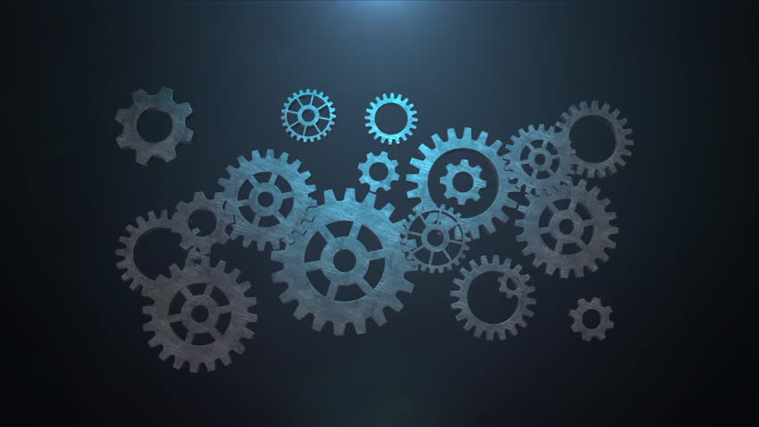 mechanical gear logo intro stock footage video 10813511