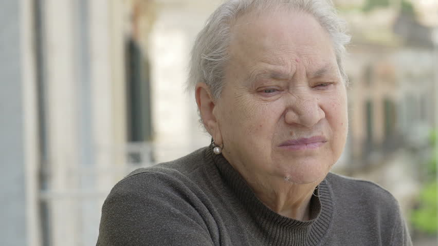 Pensive and sad old woman: thoughtful elderly woman | Shutterstock HD Video #10835531