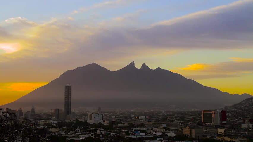 Monterrey, Nuevo Leon. Mexico - CIRCA 2015: Sunrise