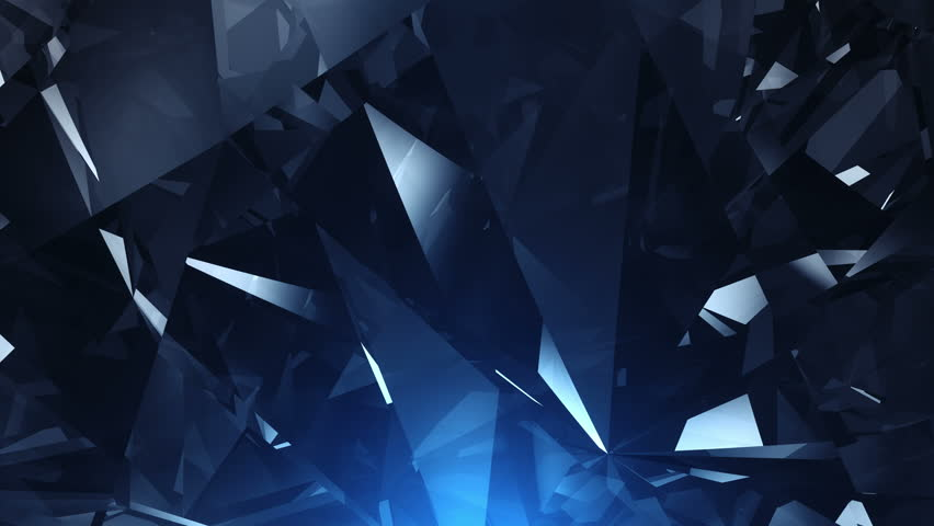 UHD Abstract  blue diamond background - loopable 4K animation