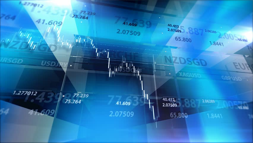 Blue background with market chart and digits. The clip is looped carefully and you can easily get the endless background. | Shutterstock HD Video #10914341