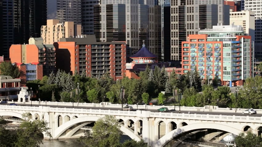 Traffic Going Into Downtown Calgary Stock Footage Video (100% Royalty-free)  1091941 | Shutterstock