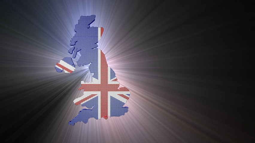 United Kingdom 3D Glowing Map
