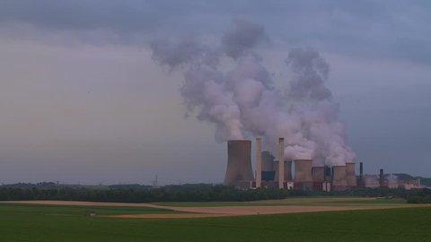 Coal-fired power station, grain field - Germany