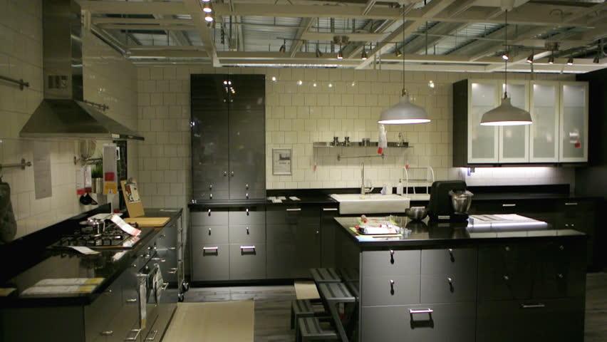 paris france circa ikea furniture store and customers browsing through its furniture