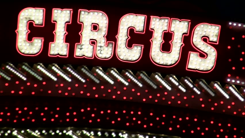 Circus Circus hotel and casino sign in Las Vegas - HD | Shutterstock HD Video #1113241