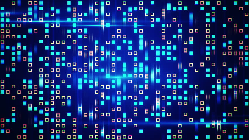 Abstract technology background with animation fast motion of squares and light stripes. Animation of data transferring or computer's data files. Animation of seamless loop. | Shutterstock HD Video #11177981