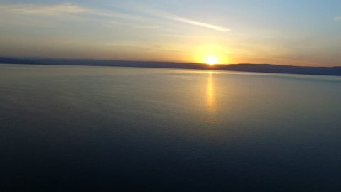 SEA OF GALILEE, ISRAEL - CIRCA MARCH 2015: Aerial of the Sea of Galilee