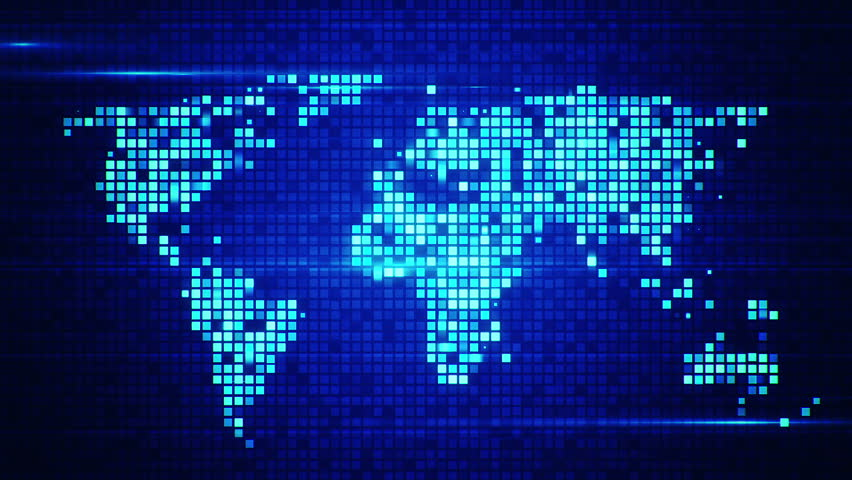 World Map With Capital Cities On Black 1080p Loop Stock Footage Video 559213