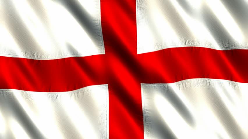K D Animation Of England Enlgish Red Cross On White Whole Flag - Flag of england