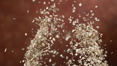 Oats flying in slow motion, shot on Phantom Flex 4K