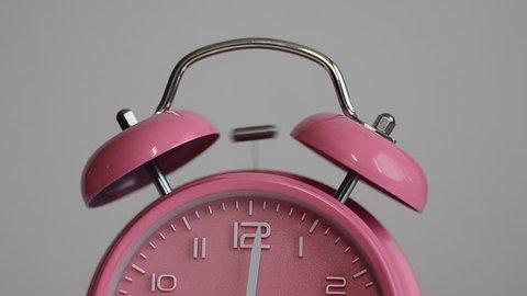 Alarm clock ringing loudly