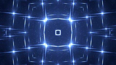 VJ Fractal blue kaleidoscopic background. Background motion with fractal design. Disco spectrum lights concert spot bulb. More sets footage in my portfolio.