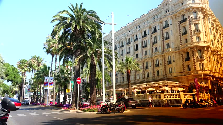 Cannes France Circa 2017 Luxury Intercontinental Carlton Hotel Offers 343 Rooms