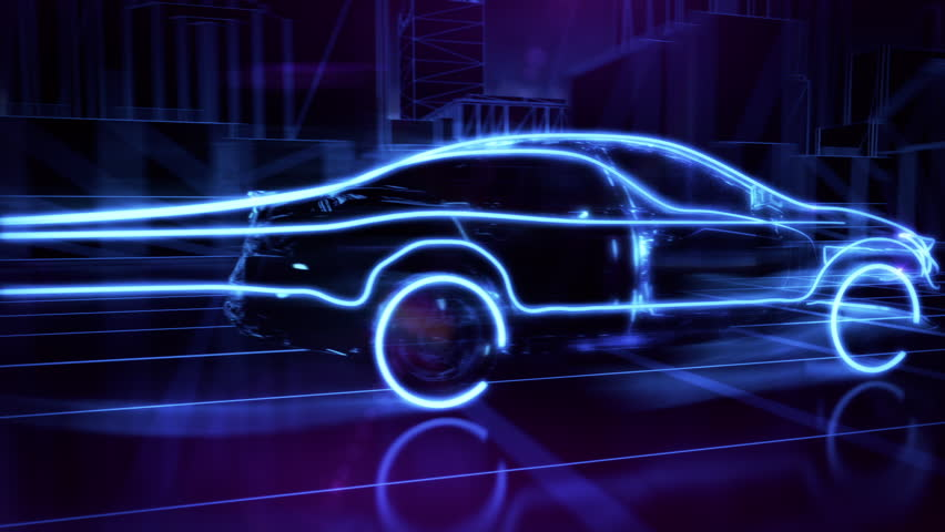 Abstract 3D Car Animation