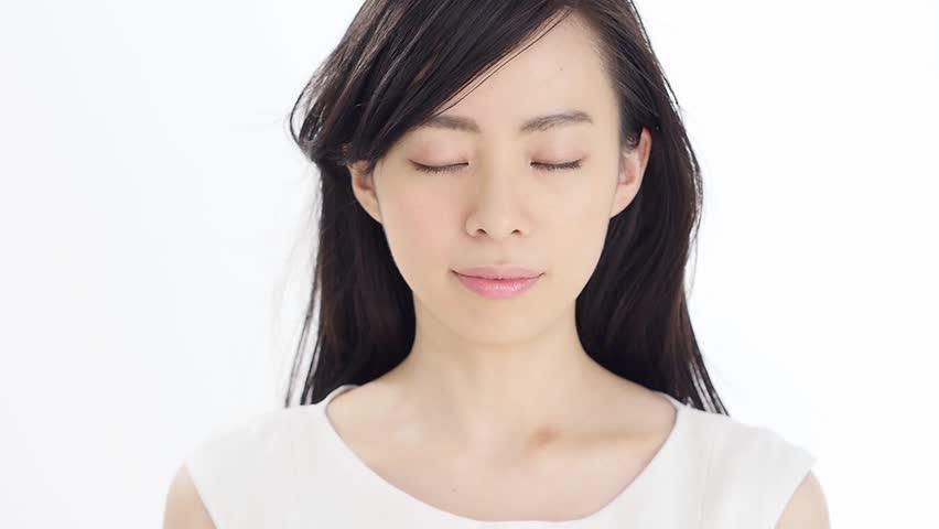 Sexy Beautiful Asian Japanese Model Young Lady Pin Up Girl Black Pantyhose Woman -8817