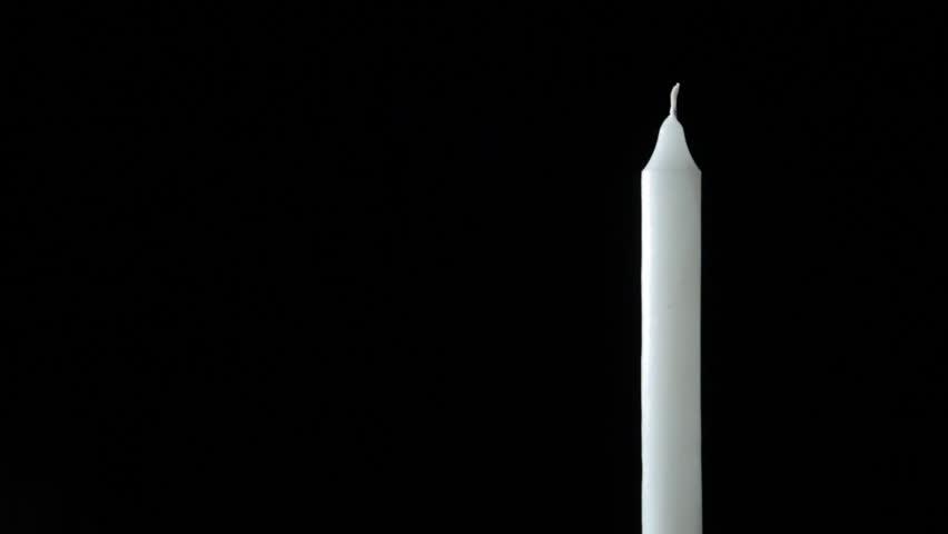 Burning Candle On Black Background. The Lighting Of A White Candle On Black Background. Stock Footage Video 11532761   Shutterstock & Burning Candle On Black Background. The Lighting Of A White Candle ... azcodes.com