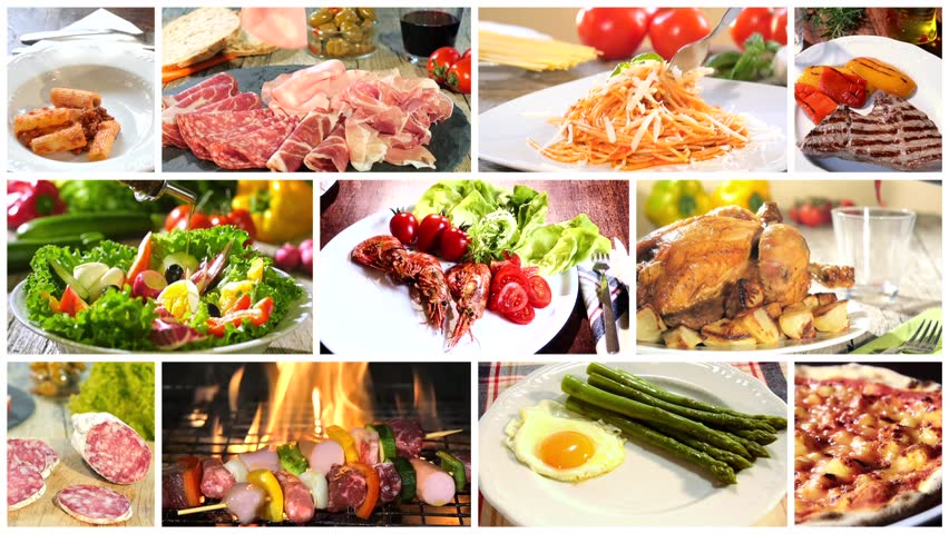 Various delicious food recipes collage videos de metraje en stock various delicious food recipes collage hd stock footage clip forumfinder Images