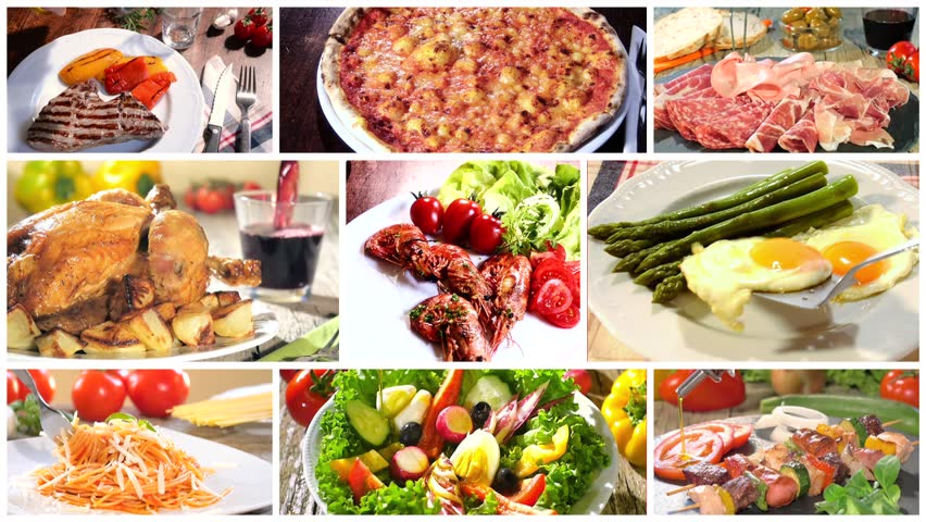 Italian pasta collage stock footage video 10895336 shutterstock various delicious food recipes collage hd stock footage clip forumfinder Image collections
