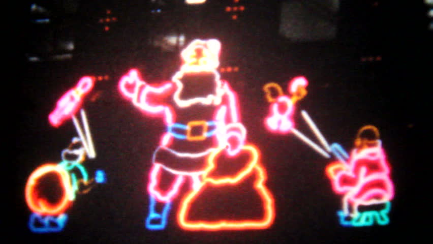 Vintage Christmas Lights.Vintage Christmas Neon Lights 8mm Stock Footage Video 100 Royalty Free 11591951 Shutterstock