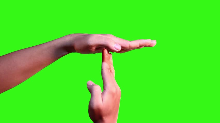 Hand gesture making silent or stop symbol with green screen | Shutterstock HD Video #11654084