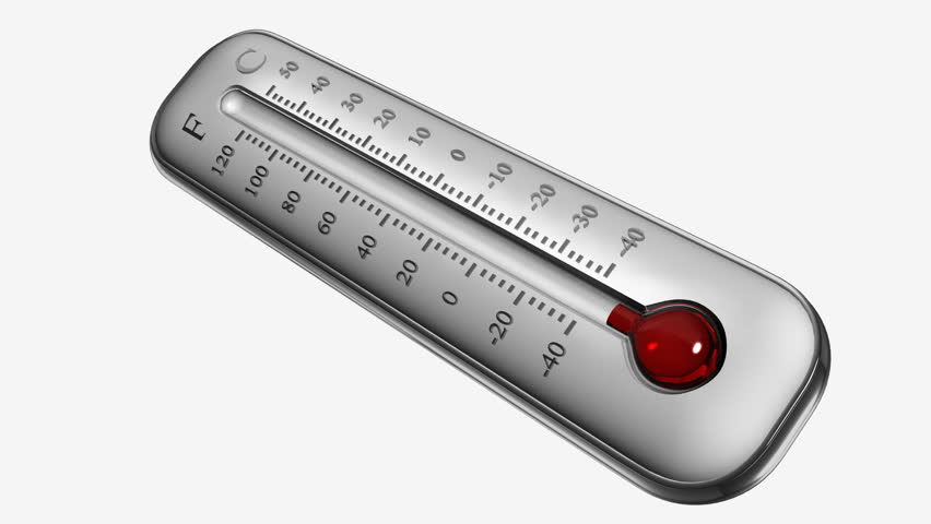 Thermometer HD animation with alpha matte