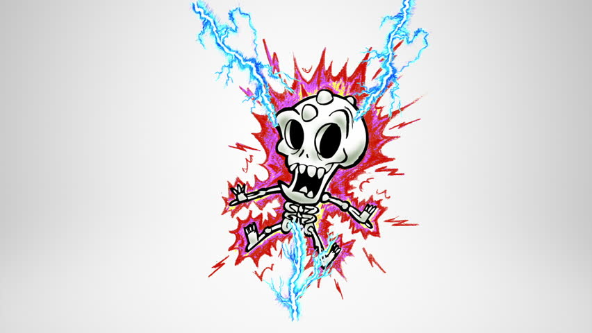 Monster death. Lightning. Alpha matte. Classic animated monster being struck by lightning. More options in my portfolio.