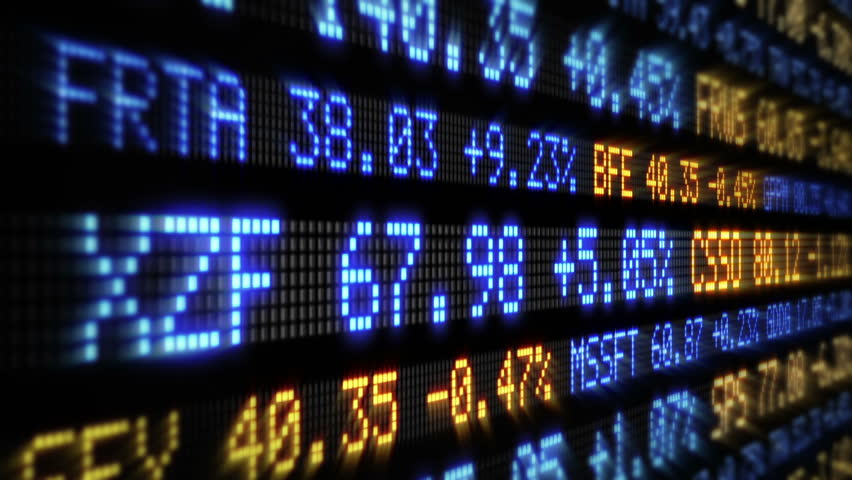 Stock Market Tickers. Loopable. Blue and Orange. 2 videos in 1 file. Digital animation of Stock Market prices passing by. Lateral view. More options in my portfolio. | Shutterstock HD Video #11745989