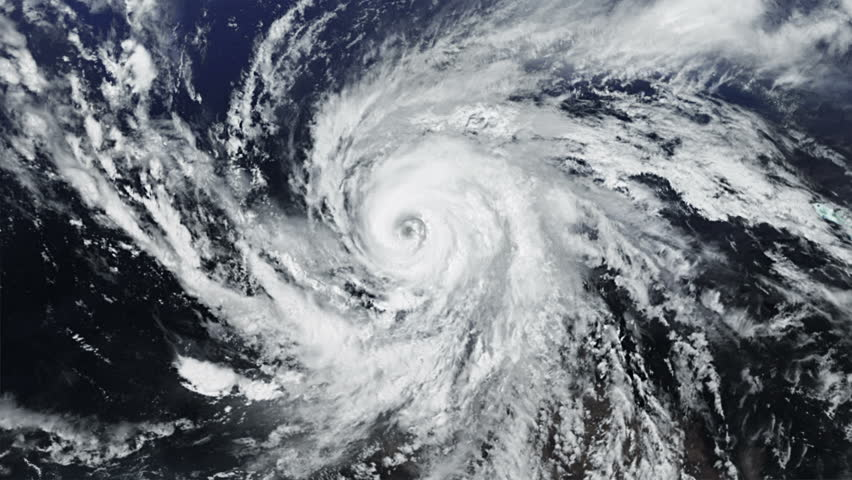 Hurricane. Alpha matte. 2 videos in 1 file. Huge hurricane seen from space. Earth map based on images courtesy of: NASA http://www.nasa.gov. | Shutterstock HD Video #11746211