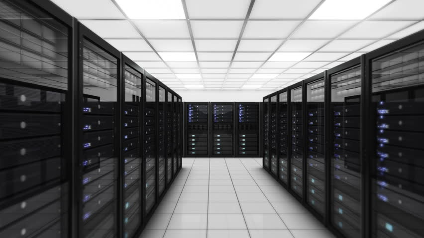Computer servers in a Data Center. Loopable. Blue. Technology Background. Flying through Servers in a Data Center. 30 seconds shot. More color options in my portfolio. | Shutterstock HD Video #11746301