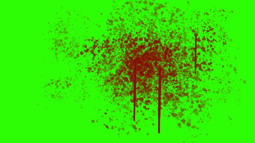 Blood Splatter on the Wall on a Green Screen Background | Shutterstock HD Video #11771003