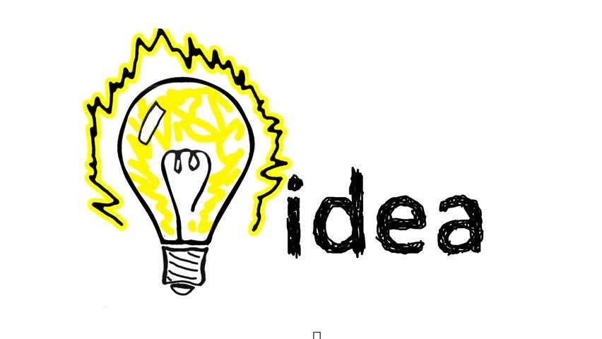 bulb idea video animation hd 1080 stock footage video