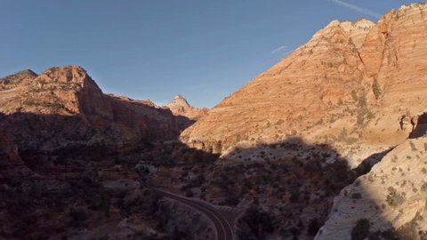 Aerial video of Zion National Park, Utah.
