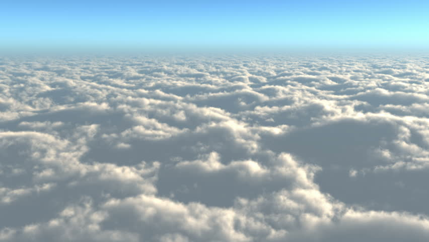 time lapse, above the clouds,Clouds billowing and moving slowly.