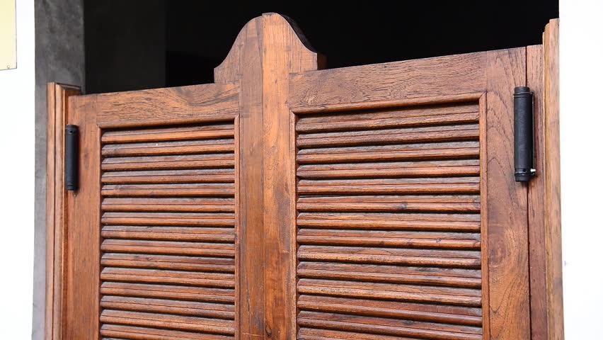 Swinging Western Saloon Doors Stock Footage Video 11869361 | Shutterstock