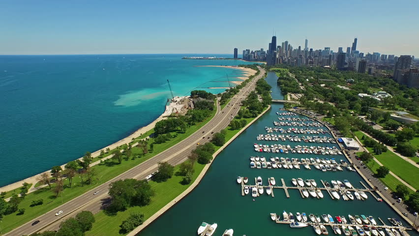 aerial video of chicago illinois during the day