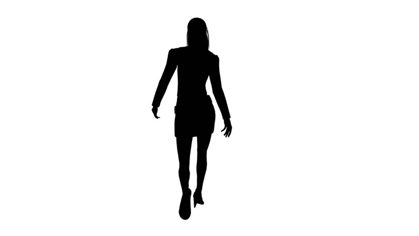 Silhouette of Woman Stock Footage Video (100% Royalty-free ...