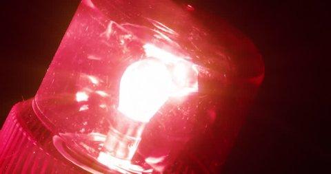 4K - Red flasher. defocused