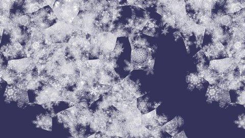 Iceflowers on glass seamless loop animation 4k UHD