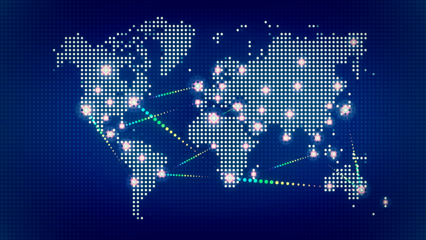 World map with spot lights stock footage video 11936471 shutterstock gumiabroncs Choice Image