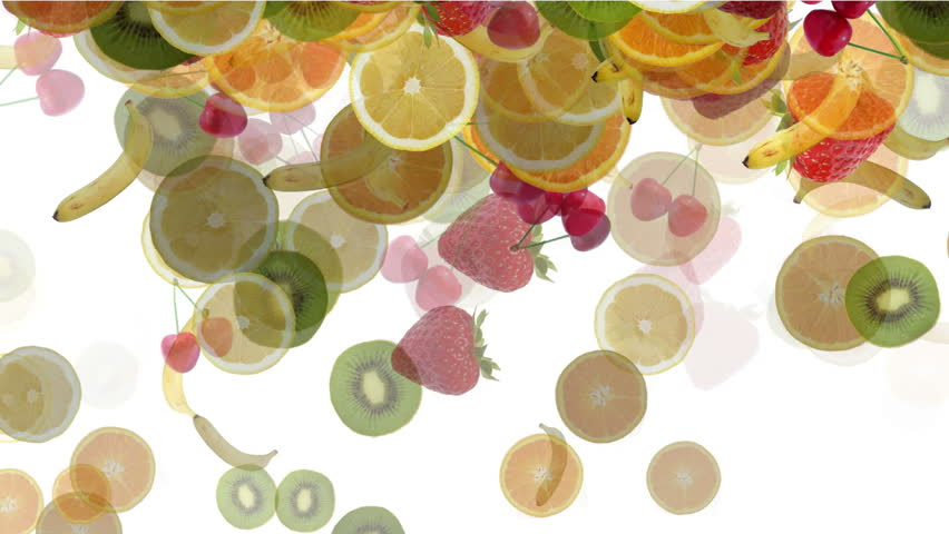 "fruit mixed rain particle ( Series 3  - Version from 1 to 9 ) "" Thing Different """