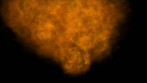 4k Hot Fire burning background,Abstract powerful particle smoke power energy. 1675_4k