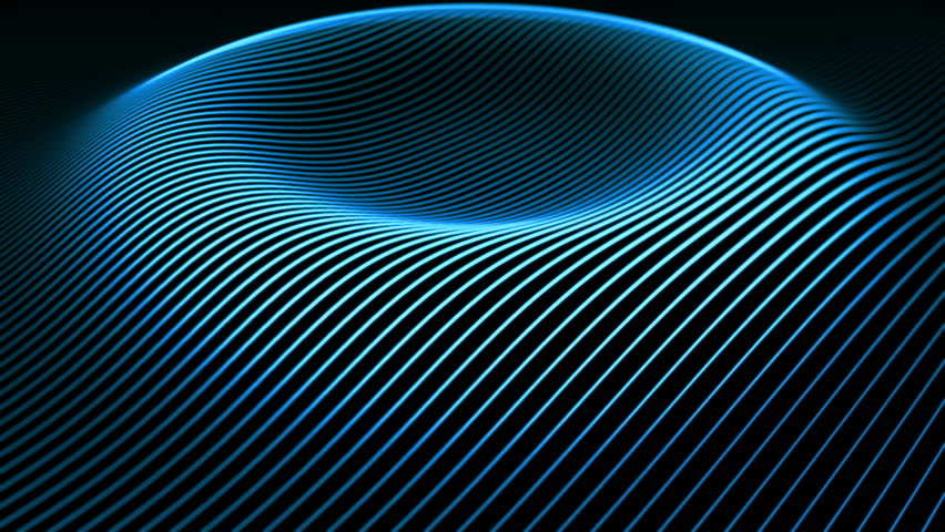 Abstract background with wavy color lines. Animation ripples on surface from neon lines. Animation of seamless loop.  | Shutterstock HD Video #11995691