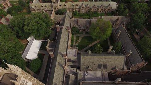 Princeton aerial footage. Establishing aerial shot of Princeton, New Jersey. Shot with DJI PHANTOM 3 in 4K UHD.