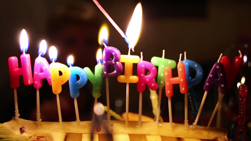 Somebody Lights Coloured Happy Birthday Stock Footage Video 100 Royalty Free 12031691
