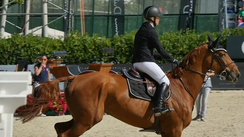 BARCELONA, SPAIN – FURUSIYYA FEI NATIONS CUP JUMPING FINAL: International horse jumping competition in Real Club de Polo de Barcelona, Spain on September 24, 2015